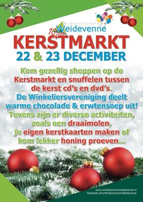 Op 22 En 23 December Gezellige Kerstmarkt Winkelcentrum De Weidevenner